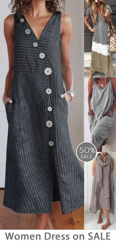 Womens casual maxi dress now 50 OFF Multiple colors Daily must have SHOP NOW Boho Fashion, Fashion Outfits, Womens Fashion, Mode Hippie, Casual Dresses, Casual Outfits, 50s Dresses, Mode Outfits, Refashion