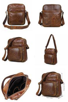 80d1a2c4c Leather retro men bag First layer of leather men shoulder bag [number] :  1008
