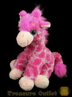 Wild Republic K&M International Stuffed Plush Animal Pink Giraffe 8in
