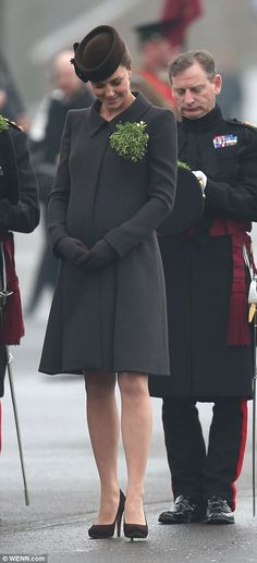 Done it before: She also conducted the ceremony while five months pregnant with Prince Geo...
