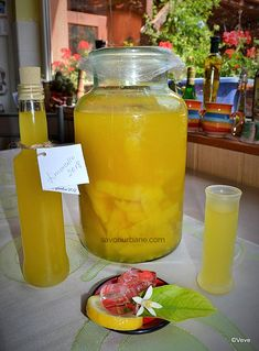 Limoncello, Jacque Pepin, Sorrento, Table Decorations, Food, Kitchen, Sweets, Syrup, Canning