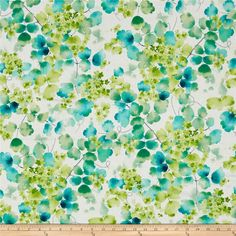 Delaney Leaf Vine Cream from @fabricdotcom Designed by Studio 8 for Quilting Treasures, this cotton print fabric features colorful leaves and is perfect for quilting, apparel and home decor accents. Colors include white, grey, light grey and shades of blue and green.