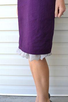 how to make a slip on skirt for drumming