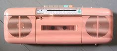 Pink Boombox. I had THIS in my bedroom, and I recorded LOTS of great music off the radio onto a blank tape, too!
