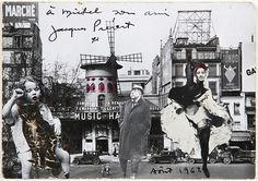 Jacques Prévert- Autoportrait au moulin rouge , 1962