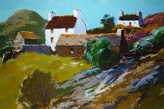 Donald McIntyre - Mynydd Bodafon no 2 Local Painters, Landscape Paintings, Oil Paintings, Gouache Painting, Art Studies, Beautiful Paintings, Cool Drawings, Art Images, Gallery