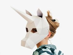 Unicorn mask Animal Mask Kids Mask Halloween Costume Kid