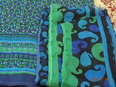 handmade batik lawn suit chiffon dupatta