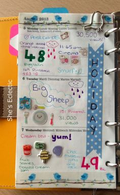 She's Eclectic: My week in my filofax #32 - close up  Holiday sticker using washi tape