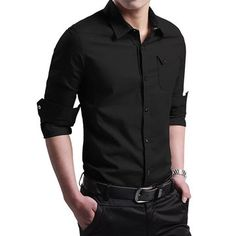 Off-road Military Fashion Handsome Style Slim Fit Cotton Long-sleeved Men Shirt at Banggood
