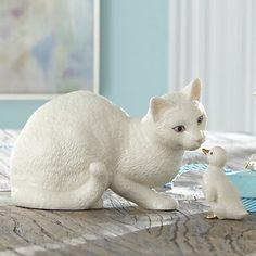 LENOX Figurines: Cats - New Friends 2-Piece Cat Figurine Disney Cats, Clay Cats, Cat Decor, Glass Animals, Cat Crafts, Cat 2, Vintage Cat, Pretty Cats, Cats And Kittens