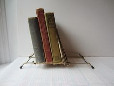 Vintage Folding Metal Book / Record Portable Rack
