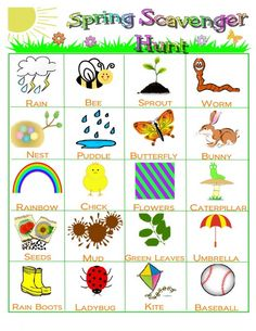 This scavenger hunt not only provides a fun outdoor activity for your family, but it offers you an opportunity to teach your children about springtime. Make sure to print the scavenger hunt and take it along with you on your next outing!  http://worldseeker.hubpages.com/hub/Spring-Scavenger-Hunt