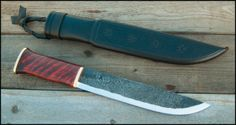 Leuku - One of the traditional knives of the Saami people who inhabit the northern forests of Europe, the leuku is a wide-bladed tool designed to serve as a hatchet, a machete, and a butcher knife.
