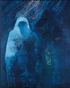 Guardians by Darcy Nicholas, Māori artist kp Modern Indian Art, Maori Art, New Zealand, Past, Canvas, Artist, Painting, Film, Ideas