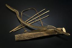 Bow, Satyr Woods. Another example of a Satyr Wood bow, with some arrows and a quiver.