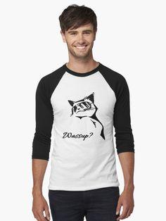 'Wassup Badass Cat' T-Shirt by cool-shirts My T Shirt, Hard Rock, Cool Shirts, Chiffon Tops, Tank Man, Classic T Shirts, Shirt Designs, Long Sleeve, Casual