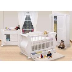 Baby Elegance Elegant 3 Piece Furniture Set - Cream. | Baby Cribs ...