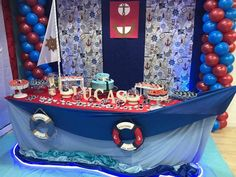 Sailor Party, Nautical Party, Girl Themes, Boy Decor, Boy Birthday Parties, Baby Party, Tutorial, Baby Boy Shower, Baby Shower Decorations