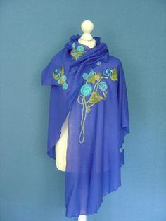 Capes & Ponchos - Cape Blau Umhang - ein Designerstück von hofatelier-mode bei DaWanda