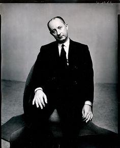 Irving Penn, Portrait, Christian Dior, New York, 1947 for Vogue Magazine.