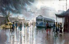 Title :           Rainwashed Artist :       Jiaur Rahman ID :                P 16 Medium :     Print On Canvas Size :             24 x 16 Inches Year :            2008 Shipping :    Rolled / Free Price :           Rs 5000 / $ 100