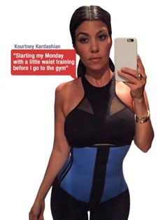 1e4e018a9c Kim Kardashian s Favorite Style 2026 Latex Sport Waist Trainer 2 Rows Hooks  Body Shaper Blue