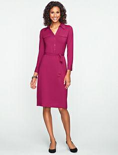 Talbots - Platinum Jersey Shirtdress | Dresses | Misses