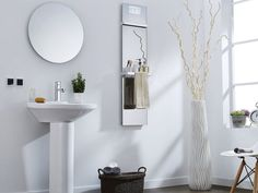 The Infralia 'SuninX' mirror is designed as a bathroom mirror that offers a large mirrored surface along with a heater functionality to keep the space warm, while the unit will also help to dry towels and even sterilize the space with the embedded environment sterilizer.