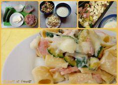 ricetta passo passo maccheroni gratinati con zucchine e prosciutto