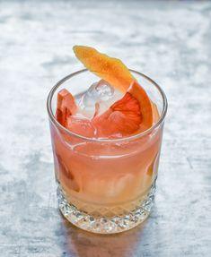 Georgian Bay Gin Grapefruit Juice Orange Juice Soda to taste Grapefruit Peel Garnish Grapefruit Juice, Orange Juice, Georgian, Punch Bowls, Gin, Soda, Panna Cotta, Cocktails, Ethnic Recipes