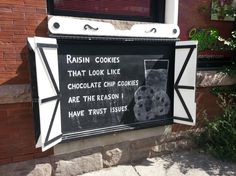 My feelings on raisin cookies