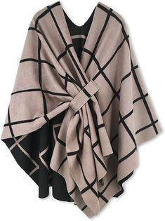 online shopping for Women Poncho Shawl Cardigan Open Front Elegant Cape Wrap from top store. See new offer for Women Poncho Shawl Cardigan Open Front Elegant Cape Wrap Poncho Pullover, Poncho Dress, Shawl Cardigan, Poncho Sweater, Belted Dress, Mode Kimono, Cashmere Cape, Dress Gloves, Pashmina Scarf