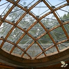 Our most challenging timber frame gridshell to date was created for a existing structure. A Wood Award winner this gridshell is a feat of engineering.