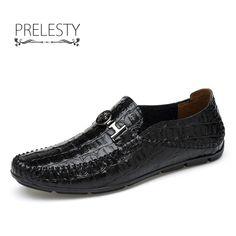 Men's Crocodile Leather Slip-On