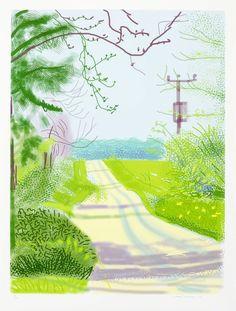David Hockney - The Arrival of Spring in Woldgate, East Yorkshire in 2011 (twenty eleven) - 23 April