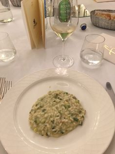 First course risotto at CIMBA gourmet dinner