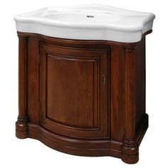 $793.83 Foremost�Wingate 31-7/8-in x 21-1/4-in Cherry Integral Single Sink Bathroom Vanity with Vitreous China Top