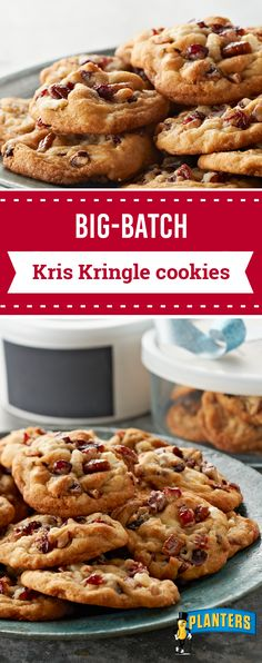 Big Batch Kris Kringle Cookies – Come prepared to your annual holiday cookie exchange with this tasty recipe! Everyone is sure to enjoy these festive treats studded with white chocolate, dried cranberries, and pecans. And you'll really enjoy that they only take 30 minutes to make!