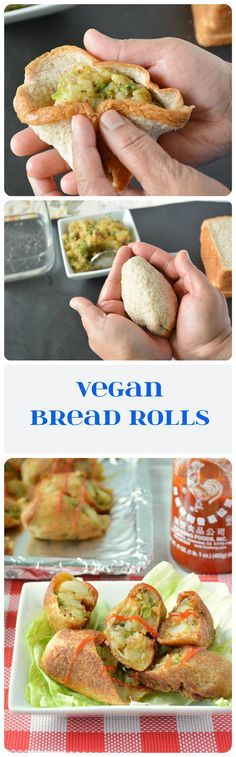Non fried bread rolls stuffed with potatoes – pea mixture. Suggested as a breakfast recipe. Interesting idea.