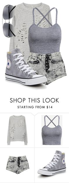 """Untitled #389"" by spn-criminal ❤ liked on Polyvore featuring R13, Carmar and Converse"
