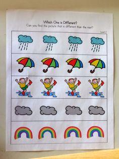 Mom's Tot School: April Showers / Rain Unit