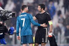 Cristiano Ronaldo of Real Madrid and Gianluigi Buffon of Juventus #realmadrid #juventus