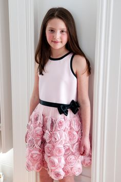 Rosettes Flower Girl Dress