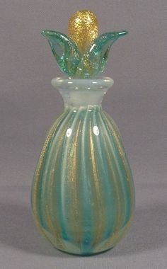 Vintage Seguso Murano Art Glass Perfume Bottle
