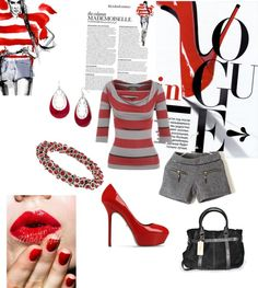 """""""Lady in Red"""" by kerryt ❤ liked on Polyvore"""