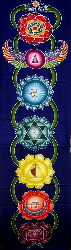 Chakra Batik Banner Tapestry by DancingShakina on Etsy, $45.00