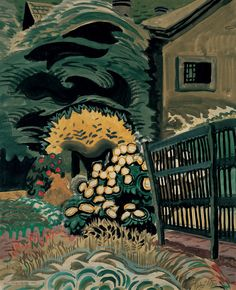 Charles Burchfield (American, 1893-1967). Noontide in Late May, 1917. Watercolor, gouache, and graphite on paper.