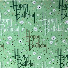 Birthday Quotes QUOTATION – Image : Quotes about Birthday – Description Love this spring like Happy Birthday paper. It's an oldie. And since st Patrick's day is right around the corner it seems fitting #vintagewrappingpaper #vintagegiftwrap Sharing is Caring – Hey can...