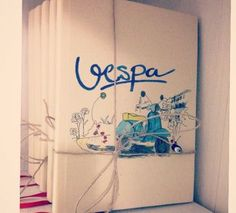 Notebook / Kanvas Defter Vespa